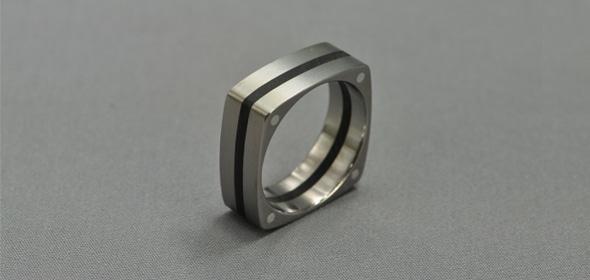 Guti – Titán/Ébenfa/Ezüst – Karikagyűrű, Jegygyűrű