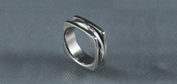 Arton – Fehérarany/Titán – Karikagyűrű, jegygyűrű