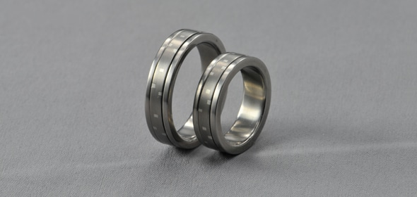 Dei – Titán/Ezüst – Jegygyűrű, Karikagyűrű
