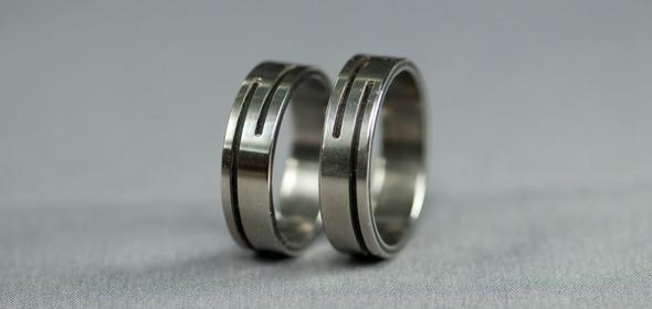 Nut – Titán/Ében – karikagyűrű, jegygyűrű