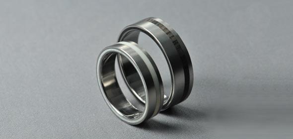 Malin – Titán/Ében/Csont – jegygyűrű, karikagyűrű