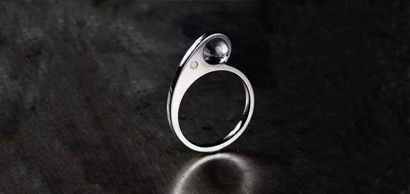 Elephant – Titán/Ezüst/Hegyikristály golyó – Eljegyzési gyűrű
