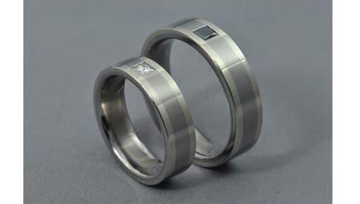 B&W – Titán/Fehérarany/Gyémánt – Jegygyűrű, Karikagyűrű
