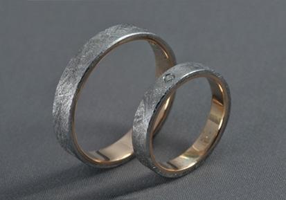 Meteorit – Meteorit/Arany/Gyémánt – Jegygyűrű, karikagyűrű